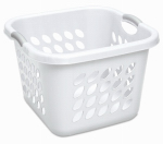 Sterilite 12178006 Laundry Basket, Square, White, 19-In.