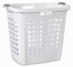 Sterilite 12258004 Ultra Easy Carry Hamper, White, 19-7/8-In.