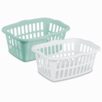 Sterilite 12459412 Laundry Basket, Rectangular, 24-In.