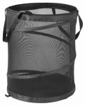 Honey Can Do Intl HMP-01127 Clothing Hamper, Black Mesh, 19 x 24-In.