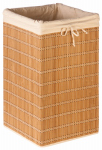 Honey Can Do Intl HMP-01620 Bamboo Hamper With Washable Canvas Liner, 14 x 14 x 25-In.