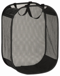 Honey Can Do Intl HMP-03891 Laundry Basket, Black Mesh, 18 x 11 x 24-In.