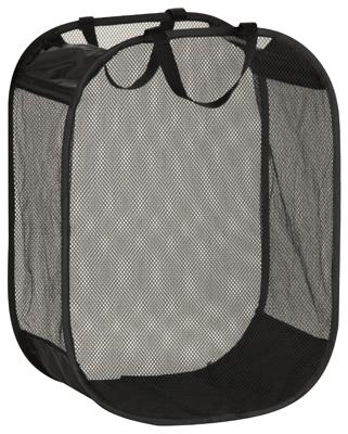 HONEY CAN DO HMP-03891 Laundry Basket, Black Mesh, 18 x 11 x