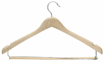 Honey Can Do Intl HNG-01264 Suit Hangers, Maple, 3-Pk.