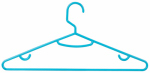 Honey Can Do Intl HNG-03588 Tubular Plastic Hangers, Aqua, 15-Pk.