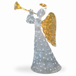 National Tree Co-Import TDF-210004W-UL Crystal Christmas Angel Decoration, Lighted, 60-In.