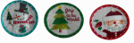 "Transpac Imports E7181TV 11"" Holiday Plate"