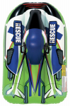 Aqua Leisure Ind AW4058 Snow Rocket Sled Rebel, Inflatable, Green, 40-In.