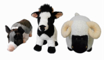 "Hugfun Intl Hongkong 238076ASST 21"" Plush Farm Animal"