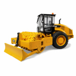 Bruder Toys America 02451 Caterpillar Soil Compactor With Leveling Blade