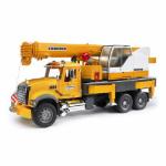 Bruder Toys America 02818 Mack Granite Liebherr Crane Truck