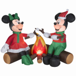 Gemmy Industries 37898 Airblown Christmas Decoration, Mickey & Minnie, 48-In.