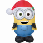Gemmy Industries 38624 Airblown Christmas Decoration, Bob Minion, 42-In.