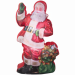 Gemmy Industries 38768 Airblown Christmas Decoration, Santa & Gift Bag, 83-In.