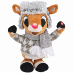 Gemmy Industries 38930 Christmas Decoration, Plush Animated Rudolph, 11-In.