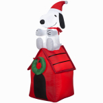 Gemmy Industries 85764 Airblown Christmas Decoration, Snoopy & Woodstock, 48-In.