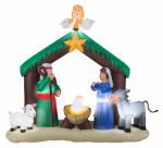Gemmy Industries 87876 Airblown Christmas Decoration, Nativity, 56-In.