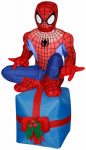 Gemmy Industries 88337 Airblown Christmas Decoration, Spiderman on Present, 42-In.