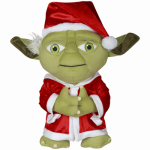 Gemmy Industries 89072 Christmas Decoration, Plush Yoda, 21-In.