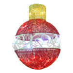 National Tree Co-Import DF-035038U-T LED Christmas Ornament Decoration, Red, 15-In.