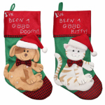 Dyno Seasonal Solutions 1196758CC Pet Christmas Stocking, Felt, Assorted, 19-In.
