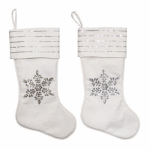 Dyno Seasonal Solutions 1207771CC Christmas Stocking, Linen Snowflake, Assorted, 20-In.