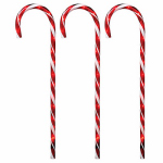 Noma/Inliten-Import 21258-88 HW 3PC Path Candy Cane