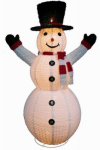 Citi Talent 57-611-087 Snowman Christmas Decoration, C7 Bulbs, Collapsible, 72-In.