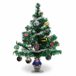 Kurt S Adler BM9141 Artificial Christmas Tree Set, Justice League Batman & Superman Ornaments, 19-In.
