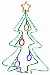 Star Bright SNXM3DSP009812V LED Christmas Tree, Neon, Folding