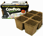 Cowpots CP SIXCELL 3PK - 12PKS Seed Starting Tray, 3-In., 3-Pk.
