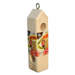 C & S Products 770 Wooden Suet Plug Feeder