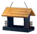 Woodlink NARANCH3B Wood Bird Feeder, Blue, 12-In.