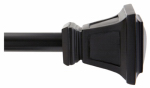 Kenney Mfg KN75797V1 Seville Curtain Rod With Finials, Black, 90 to 130-In.