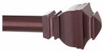 Kenney Mfg KN87006 Riley Curtain Rod With Finials, Brown, 30 to 84-In.