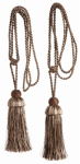 Kenney Mfg KN99707 Curtain Tiebacks, Brown, 23.5-In., 2-Pk.