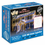 Holiday Bright Lights LEDM8IC-70WW-CG Christmas Icicle Light Set, Commercial Grade, Warm White LED, 70-Ct.