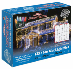 Holiday Bright Lights LEDM8NT-100MU-CG Christmas Net Light Set, Commercial Grade, Multi-Color LED, 100-Ct.