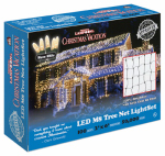 Holiday Bright Lights LEDM8TK-100WW-CG Christmas Net Light Set, Commercial Grade, Warm White LED, 100-Ct.