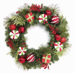 Equinox 2 CDYC-406-26 Artificial Christmas Wreath, Un-Lit, 26-In.