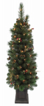 Equinox 2 ITDP-817-40 Potted Artificial Christmas Tree, Lighted Ithica Pine, 4-Ft.