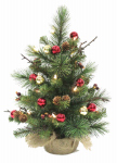 Equinox 2 MBT-2P13-18 Mini LED Artificial Christmas Tree, 18-In.