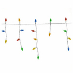 Noma/Inliten-Import V43123-88 Icicle Christmas Light Set, Synchronized, 8-Function, 75-Ct.