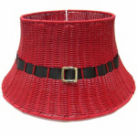 Shadloo Industrial 28-YCR00144S Christmas Tree Base, Red Wicker, 26 x 13-In.