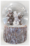 Christmas House Taiwan 511525 Christmas Snow Globe, Musical, Snowman, 100 mm