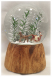Christmas House Taiwan 511526 Christmas Snow Globe, Musical, Santa Sleigh, 100 mm