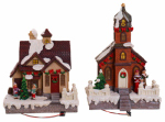 Sinomart International B9141097.9TV LED Christmas House & Church, LED Lights