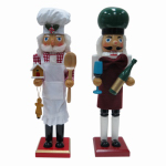 "Danson Hong Kong XDHK32003MOD1 15"" Chef Wood or Wooden Nutcracker"