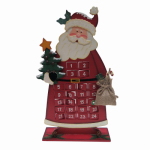 Danson Hong Kong XDHK32006 Santa Advent Christmas Calendar, Wood, 15-In.