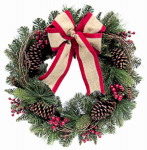 Shadloo Industrial 28-PCN00046S Artificial Wreath, 24-In.